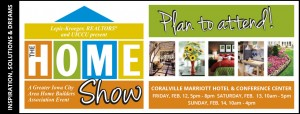 Home Show banner with graphics