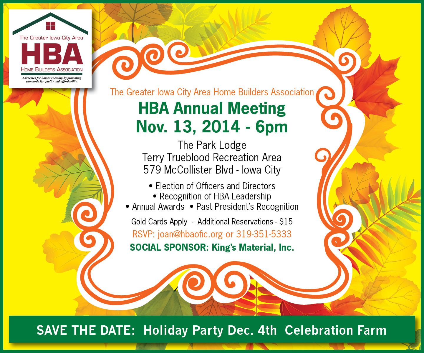 Annual Meeting Recognition Of HBA Leadership