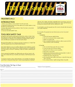 Tool Box Safety Talk