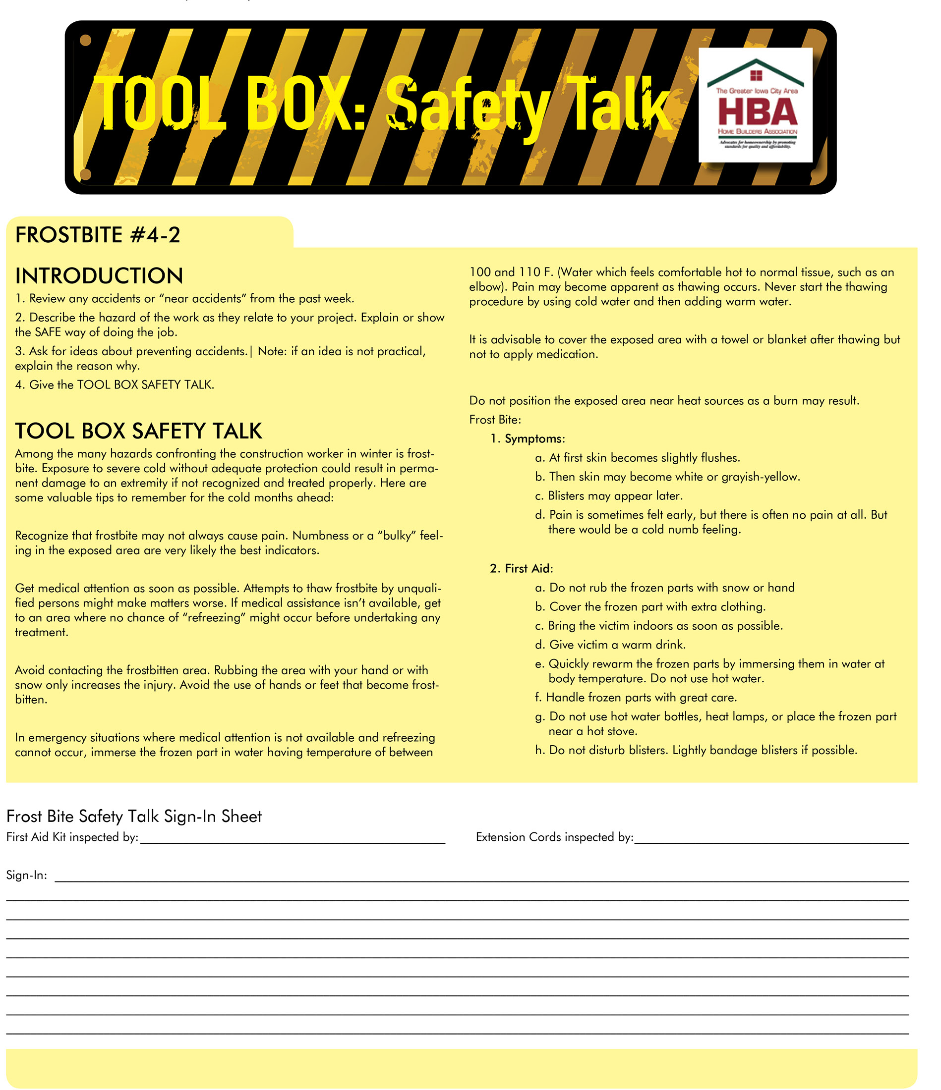 tool box safety talk
