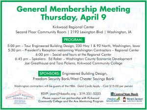 HBA General Meeting 4.9.15