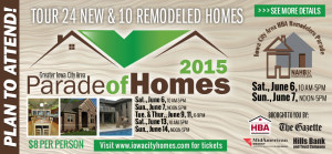 attend the iowa city parade of homes in 2015 June 6th thru June 14th