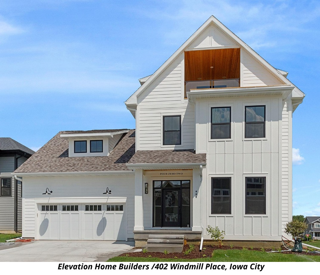 elevation homes builders earns 2020 parade of homes people s choice overall award iowa city home builders association